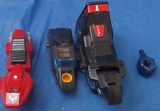 Baxinger Parts Lot Black & Red Cycles Arm Leg Fist Motor Jumbo 1985 HTF Robot