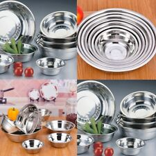 Stainless Steel Kitchen Cooking Serving Mixing Soup Bowls 3 Sizes BN