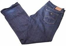 ARMANI Mens Jeans W40 L34 Blue Cotton Straight  CR13