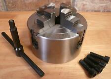 """Precision 4-Jaw x 3"""" Independent Plain Back Chuck For Metal Turning Lathes New"""