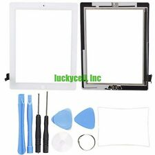 White Adhesive Digitizer Touch Screen Glass For iPad 2 + Mid Frame Bezel + Tools