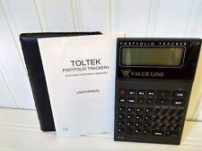 Vintage Toltek Model Pt-80 Portfolio Tracker Electronic Investment Calculator