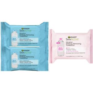 Garnier SkinActive Micellar Makeup Removing Towelettes Wipes Waterproof 25 Ct x3