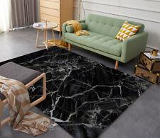 Floor Mat Carpet 3D Black Marble Print Custom Rug Doormat Door