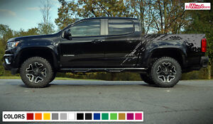 Decal Sticker Side Bed Mud Splash Kit for Chevrolet Colorado Z71 ZR2 Off Road