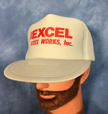 Vtg Excel Steel Trucker Hat Foam Baseball Cap Local Business Harrisonburg Va