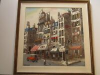 FINEST ROBERT FARRINGTON PAINTING LARGE PARIS FRANCE URBAN REGIONALISM MOD CITY