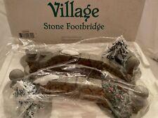 "Dept 56 Snow Village 1997 ""Village Stone Footbridge�. 2007 Brand New in Box"