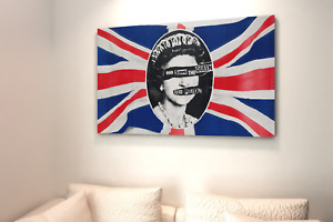 Sex Pistols God Save the Queen  Canvas Wall Art   Plus 6 FREE postcards.