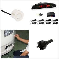 DC12V 8 Parking Sensor White Autos Astern Radar Vocal Apparatus Alarming System
