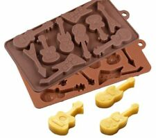 NEW  GUITAR  THEME SILICONE MOULD (1)