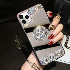 Bling Glitter Diamond Mirror Case Cover w/Holder for iPhone 11 Pro Max XS XR 7 8