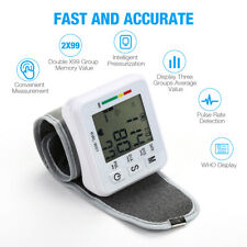 LCD Digital Wrist Blood Pressure Monitor BP Cuff Machine Pulse Meter Gauge Test