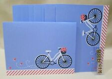 American Greetings Blank Note Cards- 10 count-Bike-Bicycles-baske t-flowers- New