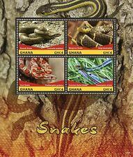 Ghana 2015 MNH Snakes 4v M/S II Reptiles Smooth Corn Snake Mangrove Snake Stamps