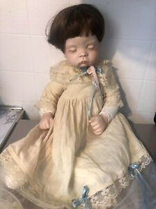 """Vintage 1986 Boots Tyner Design Sugar Britches Reproduction Porcelain Doll 20"""""""