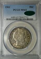 1901 Barber half dollar, PCGS MS62 CAC
