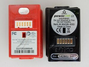 Lot Of 2 UNTESTED NYKO & Microsoft Battery Packs For Xbox 360 86036-A50