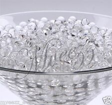 15 PKS CLEAR WATER BEADS SOIL CRYSTAL BIO GEL BALL PARTY WEDDING VASE FILLER
