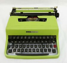 OLIVETTI LETTERA 32 TYPEWRITER LIME GREEN WITH CASE - WORKING