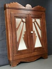 ANTIQUE/VINTAGE INDIAN, ART DECO DOUBLE MIRROR. REPURPOSED CABINET? MUMBAI.
