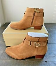 NIB MICHAEL KORS HARLAND AMBER SUEDE BOOTIES BOOTS SHOES MULT SZ