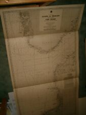 Vintage Admiralty Chart 2181 THE NORTH SEA - TEXEL to BERGEN & THE SKAW 1940 edn