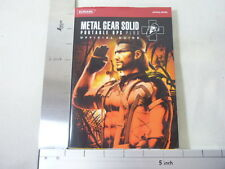 METAL GEAR SOLID Portable OPS Plus Guide Book PSP KM56*