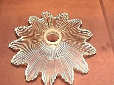 Vintage 1930's Art Deco Sunburst Crystal Lamp Shade