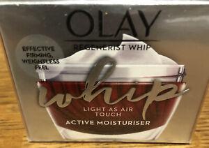 Olay REGENERIST Whip Light As Air Touch Active Moisturiser CREAM 50ml BNWT