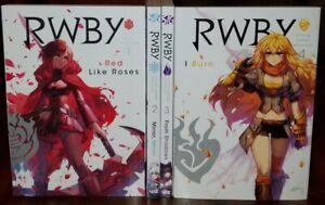 RWBY: Official Manga Anthology Vol. 1- 4 English Graphic Novels Set Brand New