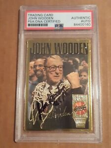 1994 Action Packed JOHN WOODEN PSA/DNA Authentic Auto Autograph Card #16