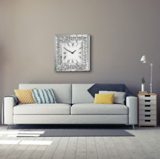 Edle Kristall Luxuriöse Diamond Wanduhr Design Wohnzimmeruhr Strass Quarzuhr