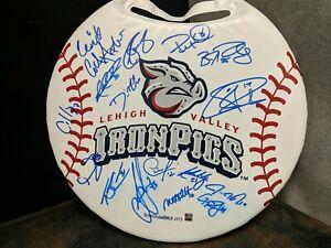 Lehigh Valley IronPigs Auto Autographed Signed Bleacher Pad Souvenir minors MLB