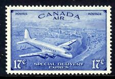 """CANADA AIR MAIL SPECIAL DELIVERY #CE3 17c Brt ULTRA, 1946 """"Ê"""" ERROR, MNH"""