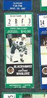 1985 10/23 ticket stub Hartford Whalers v Chicago Blackhawks Chicago Stadium