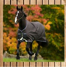 Horseware Mio Turnout lite black-türkis Regendecke Stalldecke Gr 140