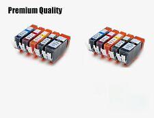 10 XL Ink Cartridges For PGI550 CLI551 Canon Pixma iP7200 iP7250 iP8750 iX6850
