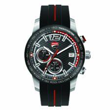 DUCATI CORSE REDLINE Uhr Quarz Armbanduhr Watch Silikon Armband schwarz NEU