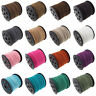 Lots 3/100M Genuine Leather Thread Lace Flat Suede Cord Jewelry Finding DIY 3MM