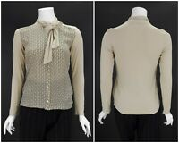 Womens Weekend Max Mara Jersey Jumper Blouse Shirt Brown Viscose Size XS