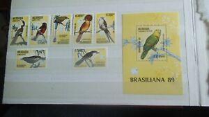 nicaragua  Braziliana bird stamp set 1989 mnh