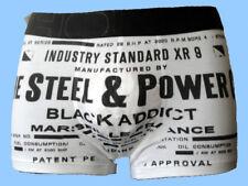 Boxer HOM Black Addict Industry Blanc et Noir Taille 2 FR, XS US