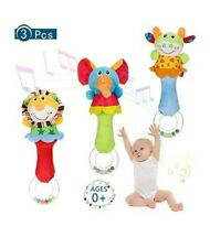 Yorgewd 3 Pack Baby Rattles Shaker Soft Stuffed Animal Toys 3-12m FAST DELIVERY