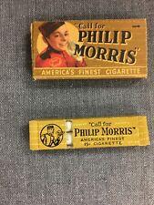 Vintage Philip Morris Cigarettes Tobacco Sample Boxes  FULL.