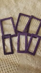 Lot of 6 used frame border stamps scrapbooking greeting card crafting stamping