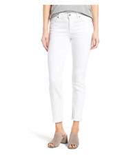 7 For All Mankind Roxanne Ankle Straight Leg Jeans White Size 25 B0909