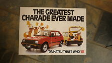 OLD AUSTRALIAN CAR SALES BROCHURE, 1982 DAIHATSU CHARADE