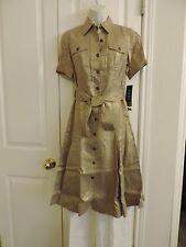 Ralph Lauren Women's Michele Metallic Linen Shirtdress Petite. Size: 4P