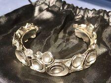 Yves Saint Laurent YSL Runway Signed Artsy Cuff Bracelet Bangle w Dust Bag EUC